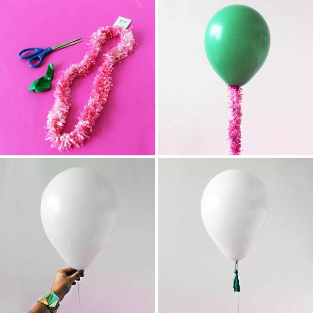 Globos de helio adornados para celebraciones