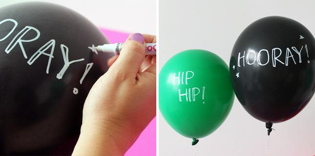 Escribir frases en globos para celebraciones