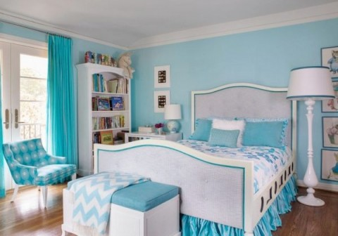 light blue bedroom color scheme habitaciones para chicas ideas y fotos decorar hogar 19032
