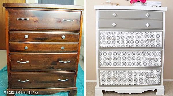 renovaciones de muebles con fotos de antes y después  Decorar
