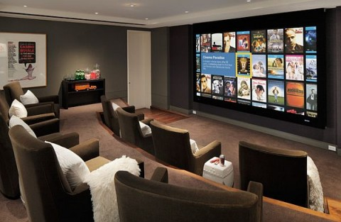 Ideas para sala de juegos en casa decorar hogar - Exquisite pictures of home theater ideas design and decoration ...