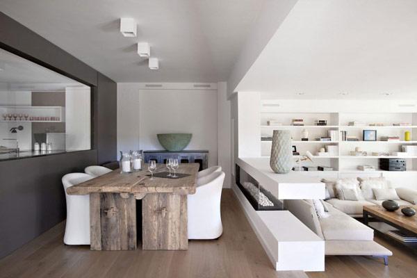 Casa decorada en color blanco