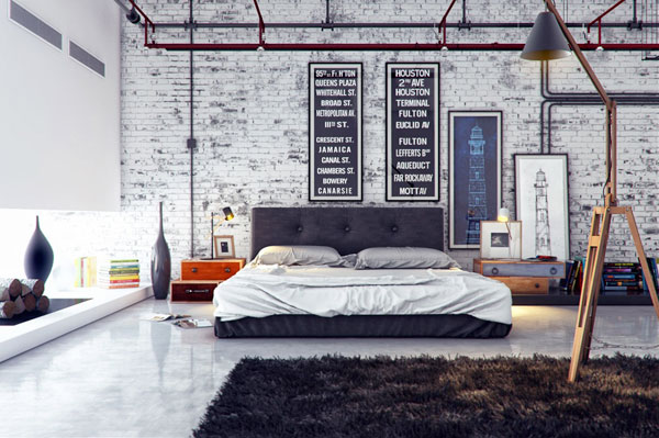 decoracion-industrial-dormitorio