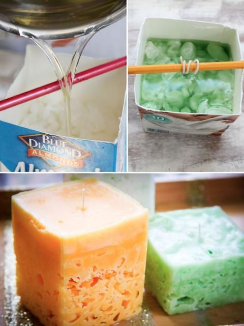 velas de hielo artesanales