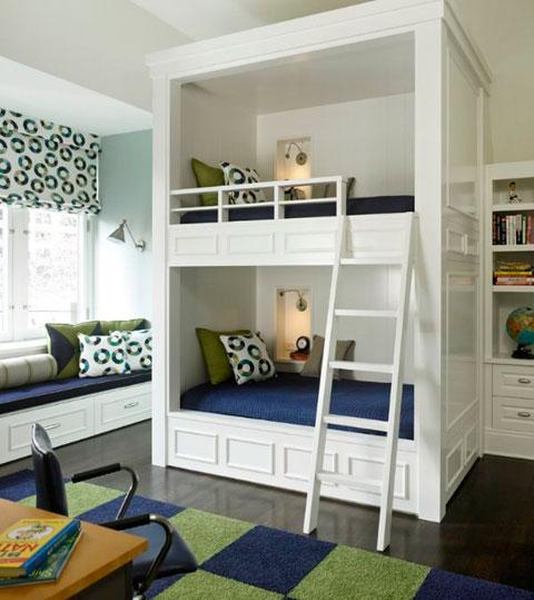 25 ideas de camas tipo litera modernas decorar hogar for Cuartos para ninas con literas