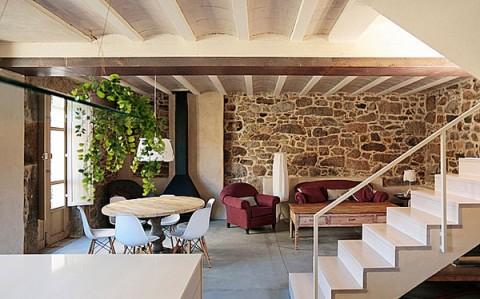 Casa rural rehabilitada en noutigos a coru a decorar hogar - Casas de piedra gallegas ...