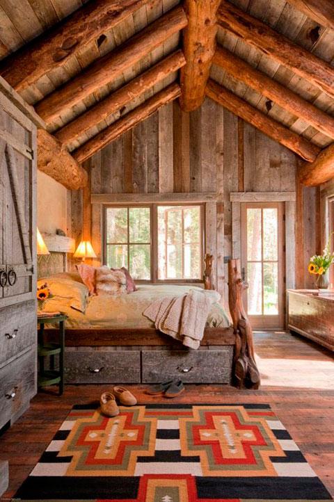 Dormitorios rusticos vintage de madera