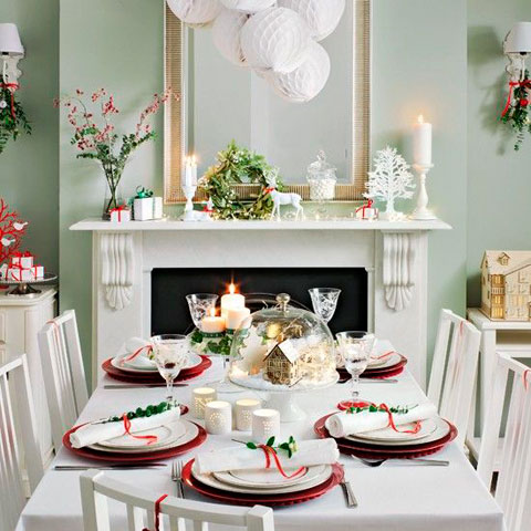 ideas paraddecorar el comedor en navidad de película - ¡preciosos!