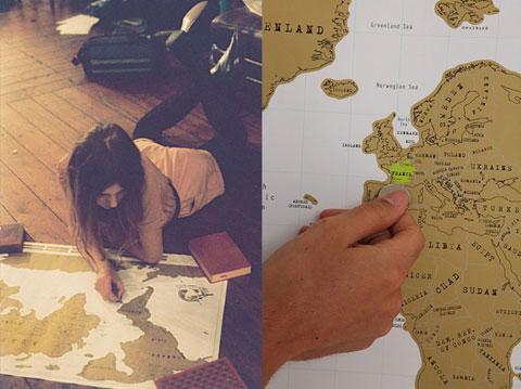 Mapa del mundo para rascar Scratch Map