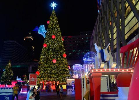 Árbol de Navidad en Bangkok