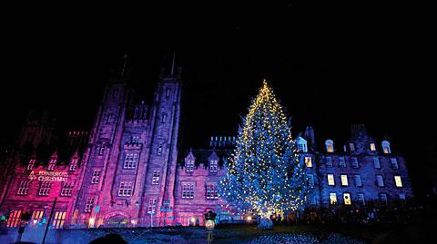 Árbol de Navidad en Edimburgo