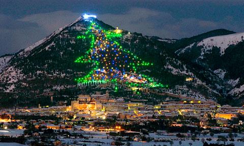 Arbol Navidad mas grande del mundo en Italia
