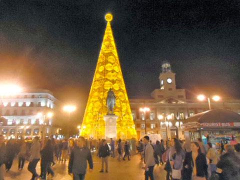 Arbol de Navidad en Madrid