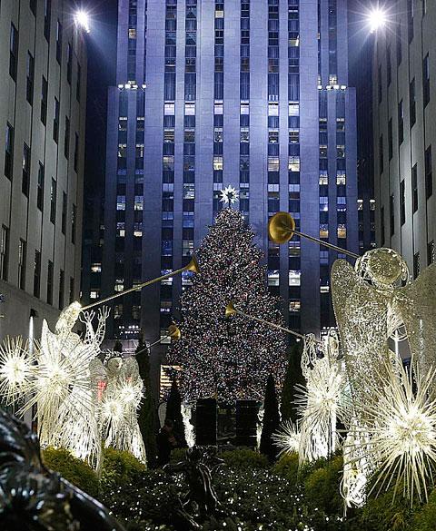 Arbol navideño nueva york