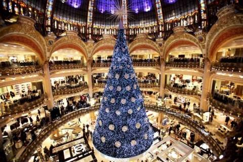 Árbol de Navidad en Paris