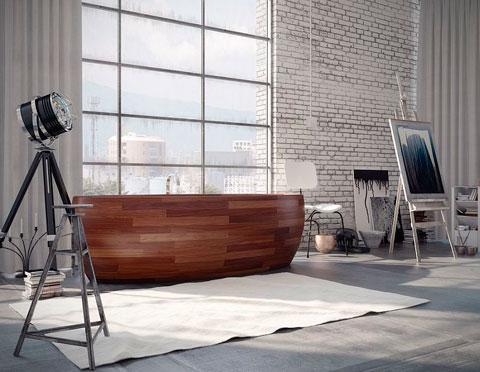 Bañera de diseño de madera