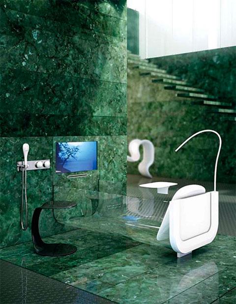 Bañera transparente de diseño