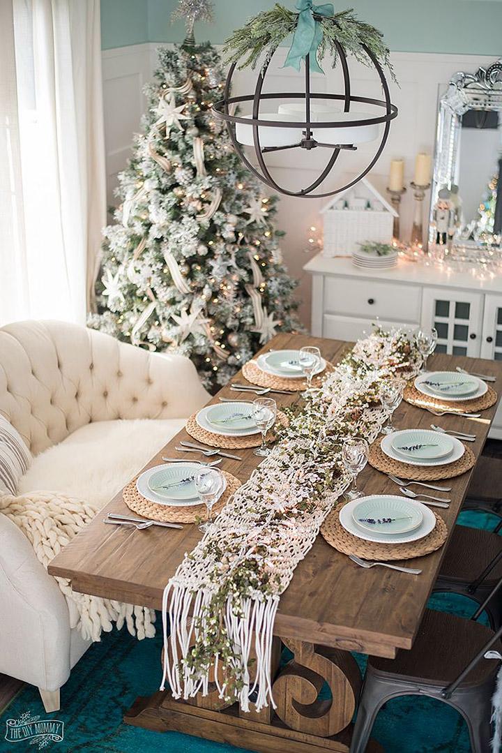 Fotos de comedores decorados de Navidad