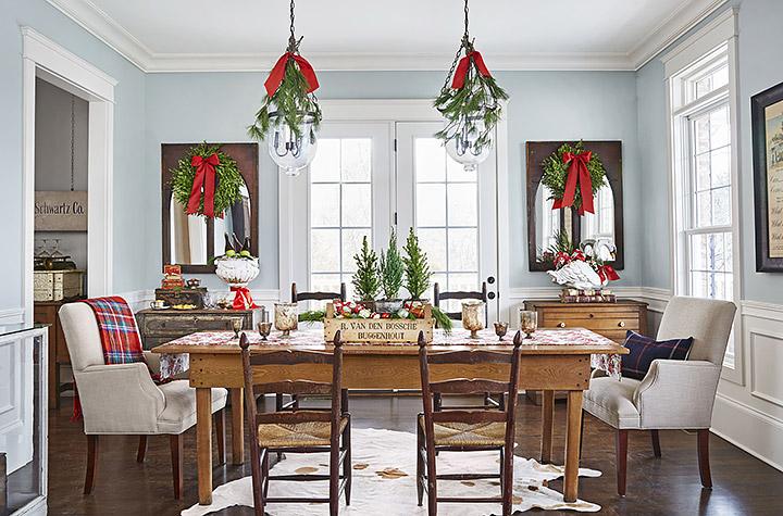 Cómo decorar el comedor en Navidad