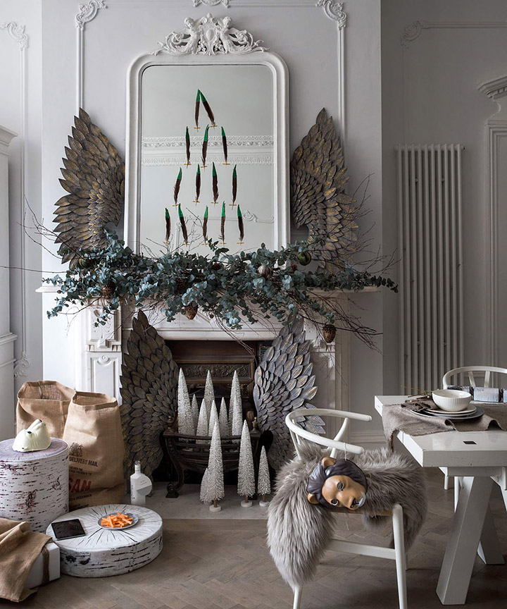 Decoración de Navidad moderna para comedores