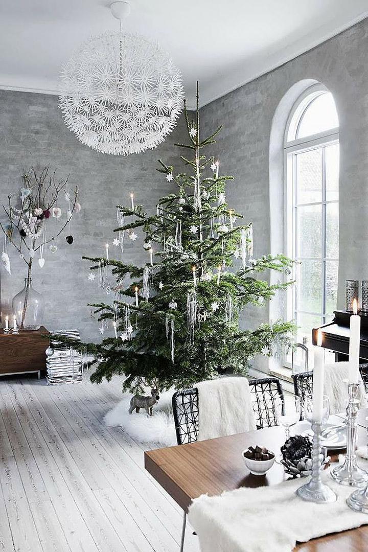Decoración Navideña en comedores modernos