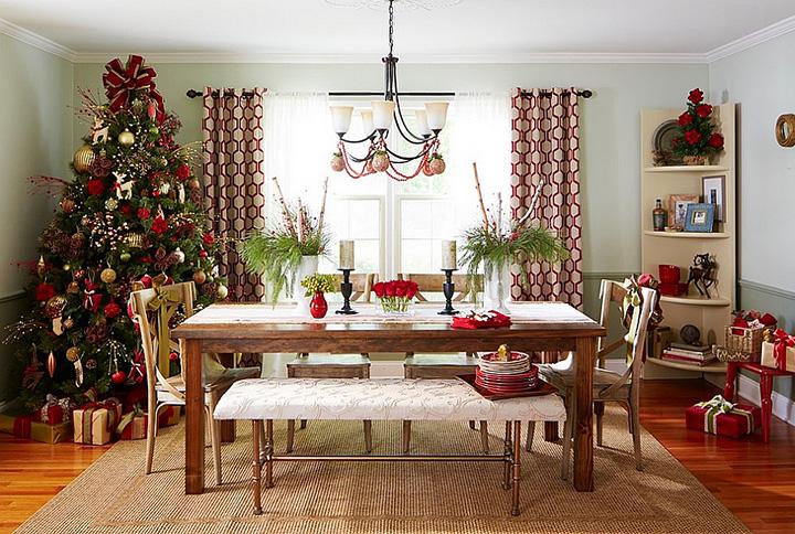 Ideas de decoración para el comedor en Navidad