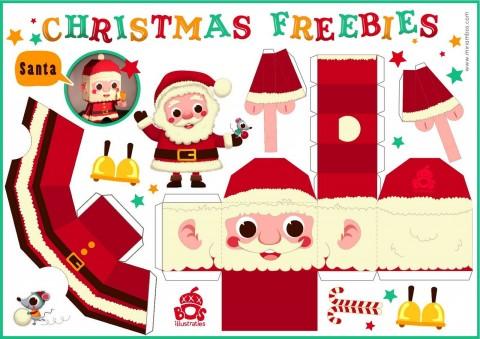 Recortable de Papa Noel gratis