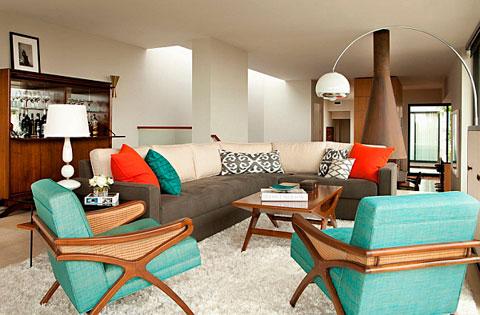 Decoraci n de salones al estilo retro pop art decorar hogar for Muebles de salon estilo vintage