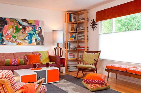 Decoraci n de salones al estilo retro pop art decorar hogar - Decoracion de salones estilo vintage ...