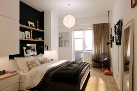 pequeno apartamento blanco y negro