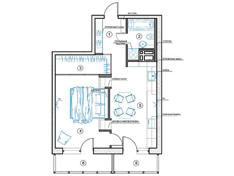 Plano apartamento pequeño
