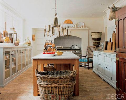 Cocina rústica de inspiración francesa