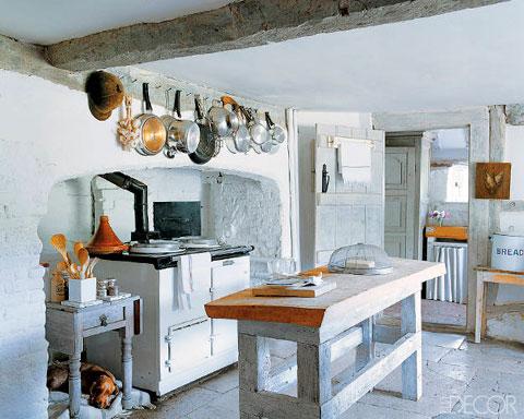 Cocina rustica de estilo ingles de epoca