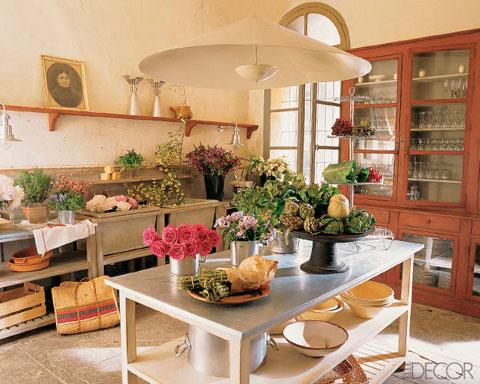 Cocina rústica estilo victoriano