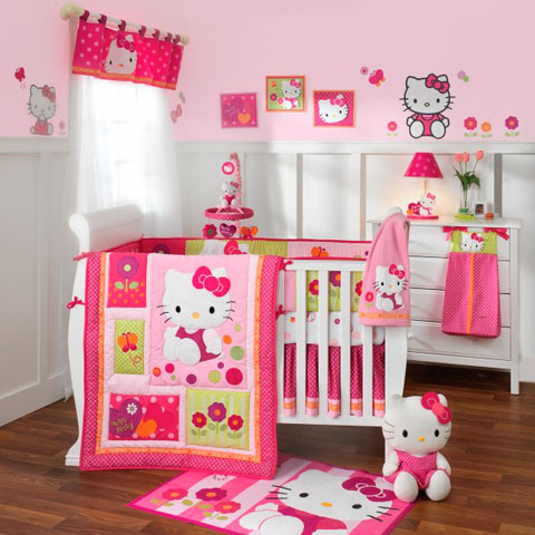 Decoraci n infantil hello kitty decorar hogar for Decoracion de dormitorios bebe nina