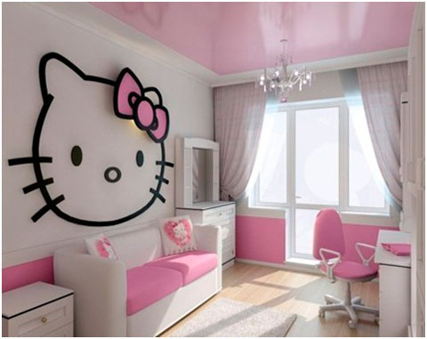 Dormitorio chicas adolescentes Hello Kitty