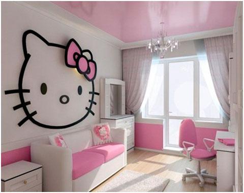 Dormitorio chicas adolescentes Hello Kitty
