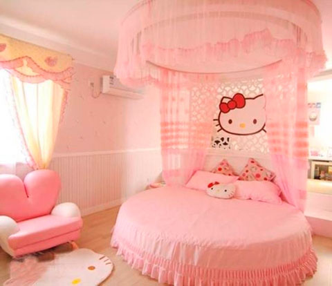 Decoraci n infantil hello kitty decorar hogar - Cortinas de hello kitty ...
