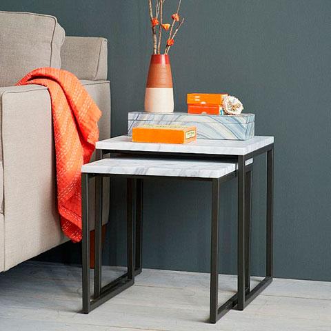 Combinación de gris y naranja