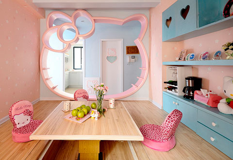Decoraci n infantil hello kitty decorar hogar for Dream house days furniture