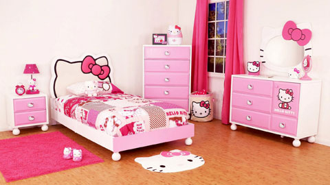 habitacion-infantil-hello-kitty