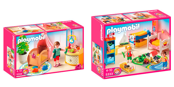 Playmobil habitaci n del beb y habitaci n infantil for La casa de playmobil
