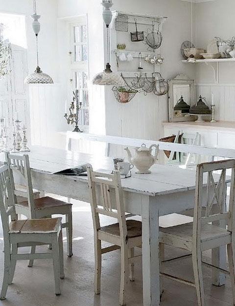 Shabby chic un estilo de decoraci n vintage decorar hogar - Idee deco eettafel ...