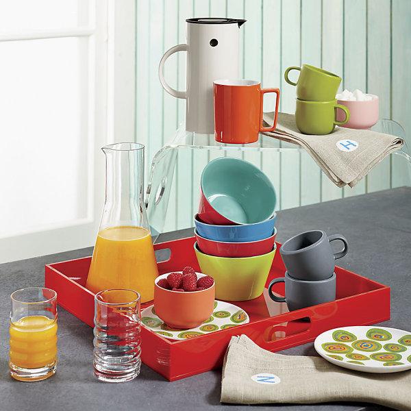 Accesorios de cocina retro de colores