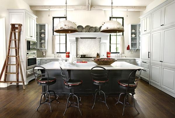 Cocina moderna de estilo retro industrial
