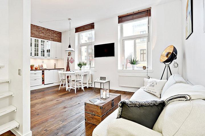 Decorar pisos pequeños vintage