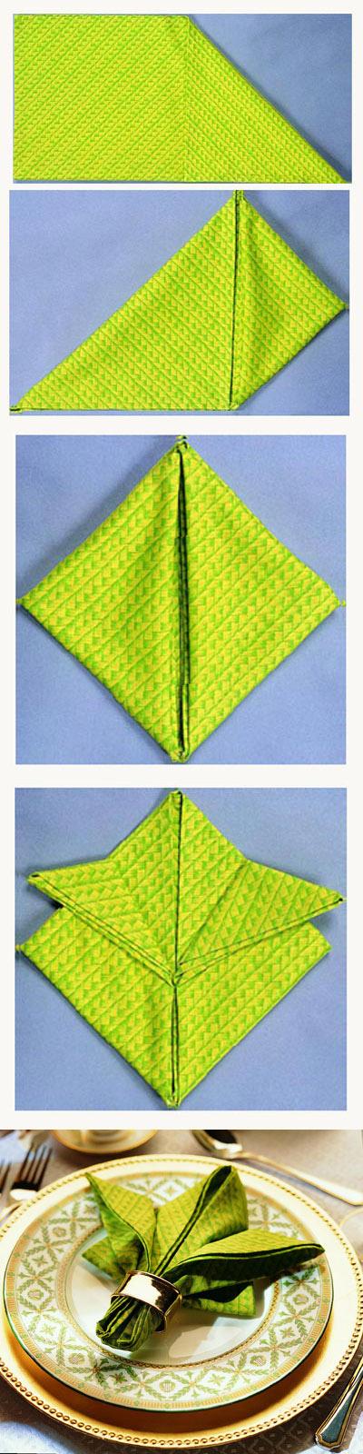 Formas de doblar servilletas de papel y de tela decorar - Como doblar servilletas de tela ...