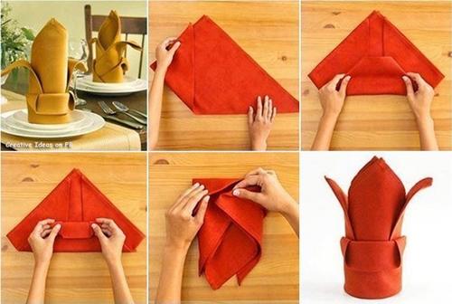 Formas de Doblar Servilletas de papel y de tela