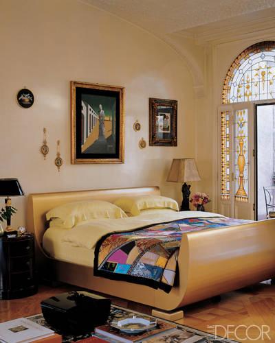 Dormitorio de famosas Donatella Versace