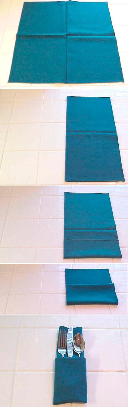 Doblar servilletas de tela paso a paso forma clásica